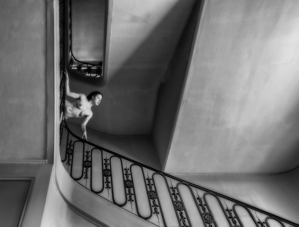 A piece of fine art art photography titled Stair by Luc Stalmans