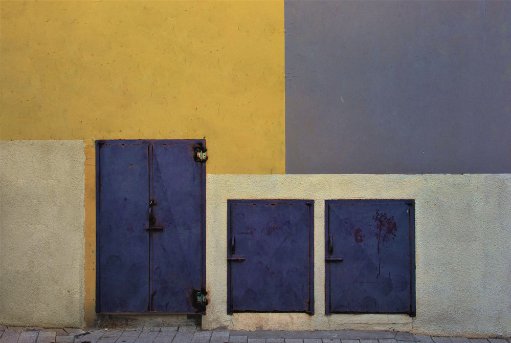 A piece of fine art art photography titled Urban Texture - Jaffa by Arnon Orbach