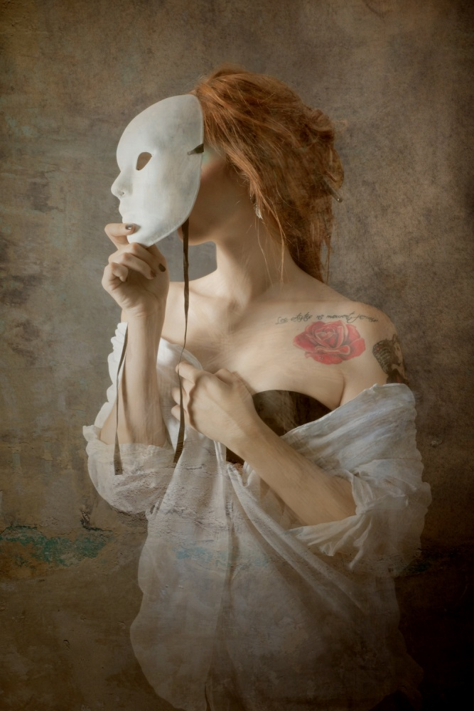 A piece of fine art art photography titled Seeing Through the Mask by Olga Mest