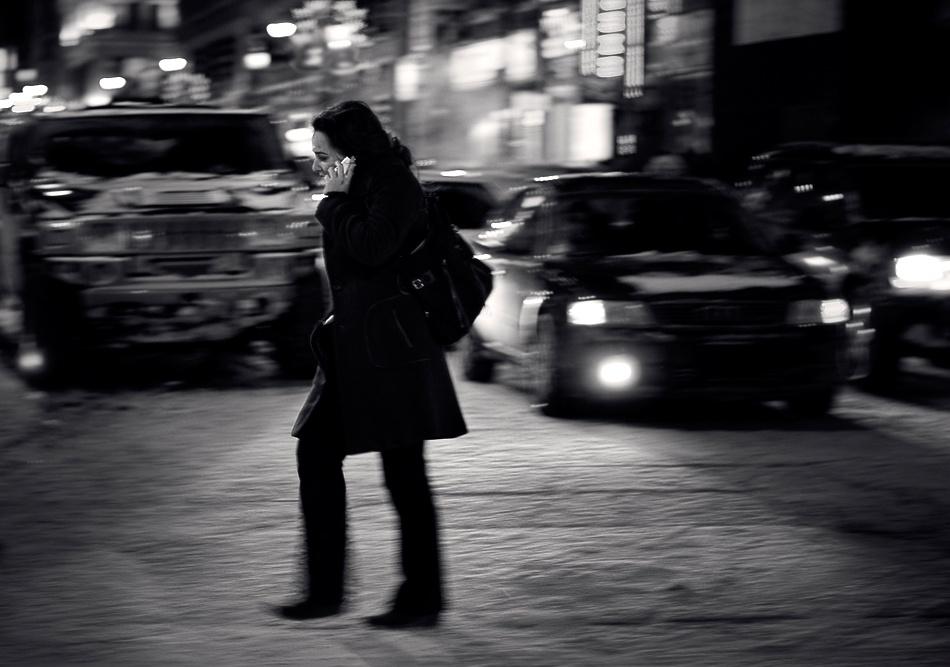 A piece of fine art art photography titled Walkin' Talkin' by Mario Jean