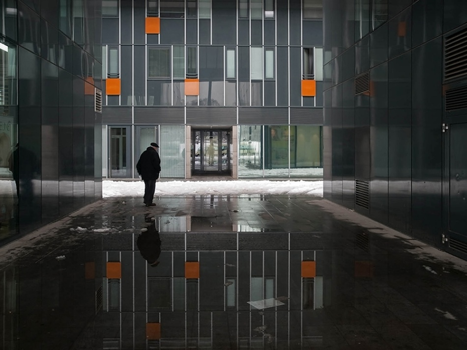 A piece of fine art art photography titled Urban Winter by Milos Toni
