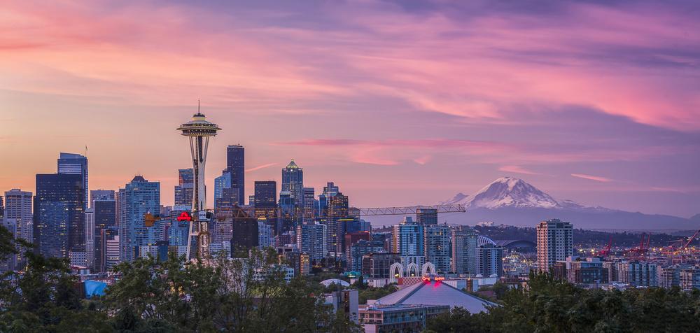 A piece of fine art art photography titled Good Morning, Seattle! by Michael Zheng