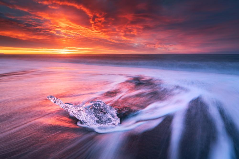 A piece of fine art art photography titled Ice and Fire II by Jingshu Zhu
