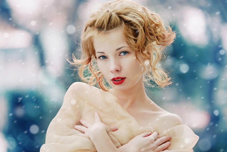A piece of fine art art photography titled Winter's Beauty by Radu Carnaru