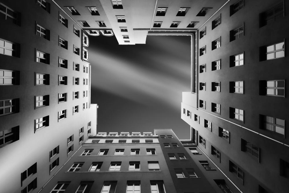 A piece of fine art art photography titled Berlin Backyards by carsten Velten