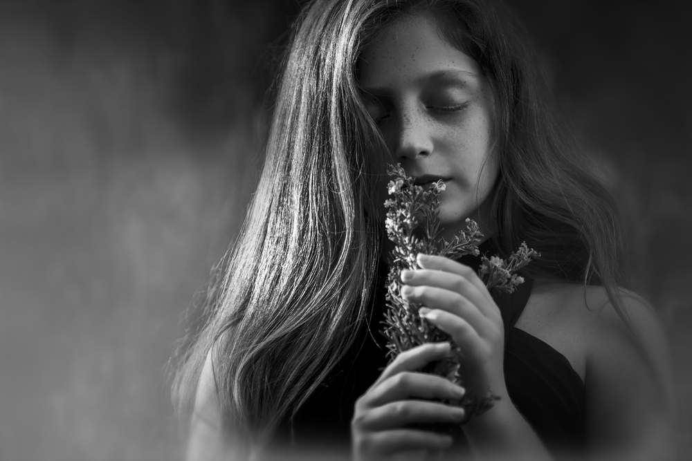 A piece of fine art art photography titled Hope of a Girl by AYMAN KHRBAWE