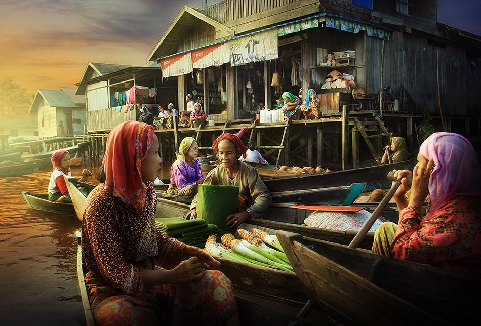 A piece of fine art art photography titled Water Merchant by Randy Rakhmadany