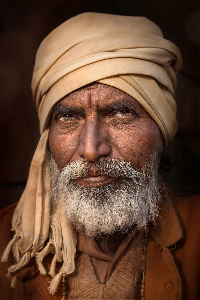 A piece of fine art art photography titled Man from Jodhpur by Norbert Becke