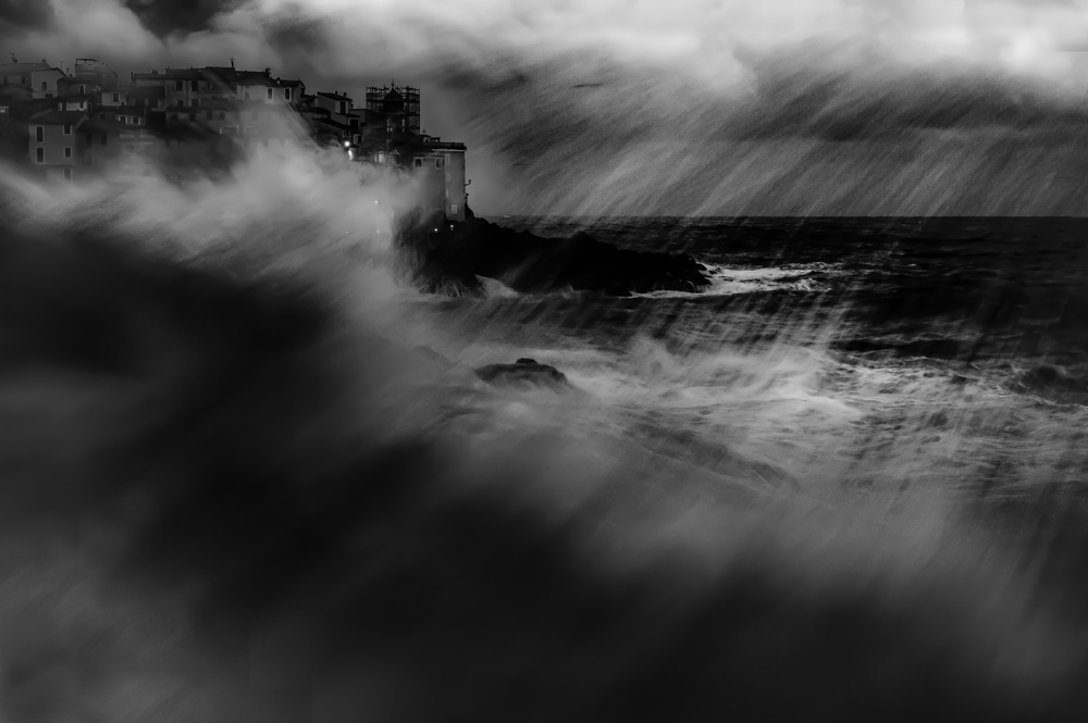 A piece of fine art art photography titled Storm In Tellaro by Alessandro Traverso