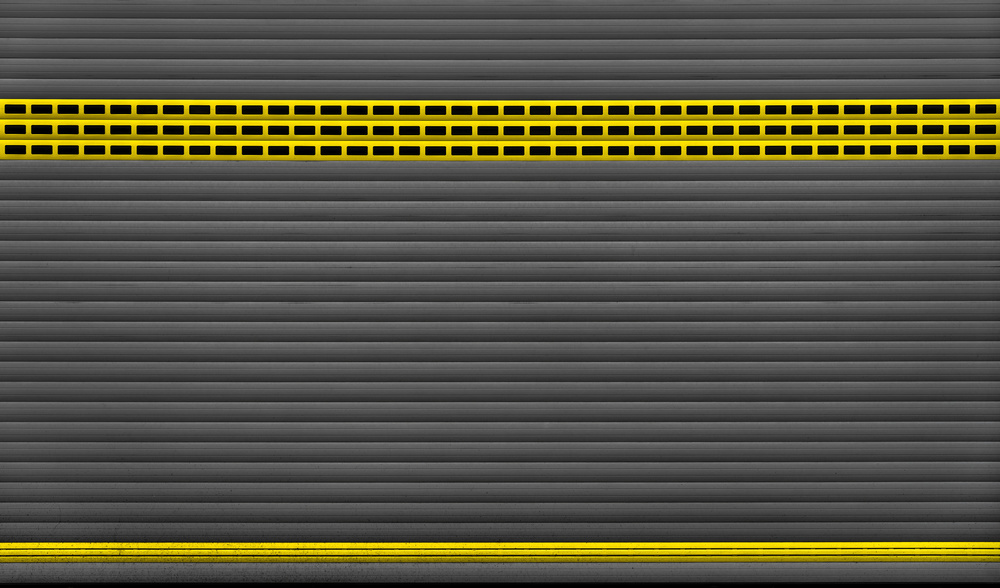 A piece of fine art art photography titled Yellow Stripes by minimalist
