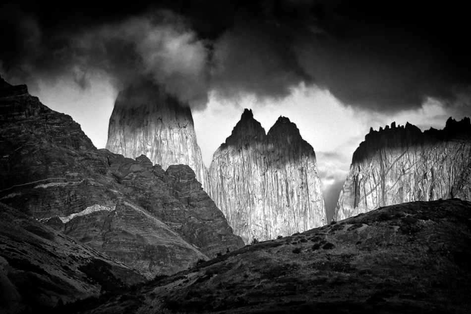 A piece of fine art art photography titled Torres Del Paine  by Dare Turnsek