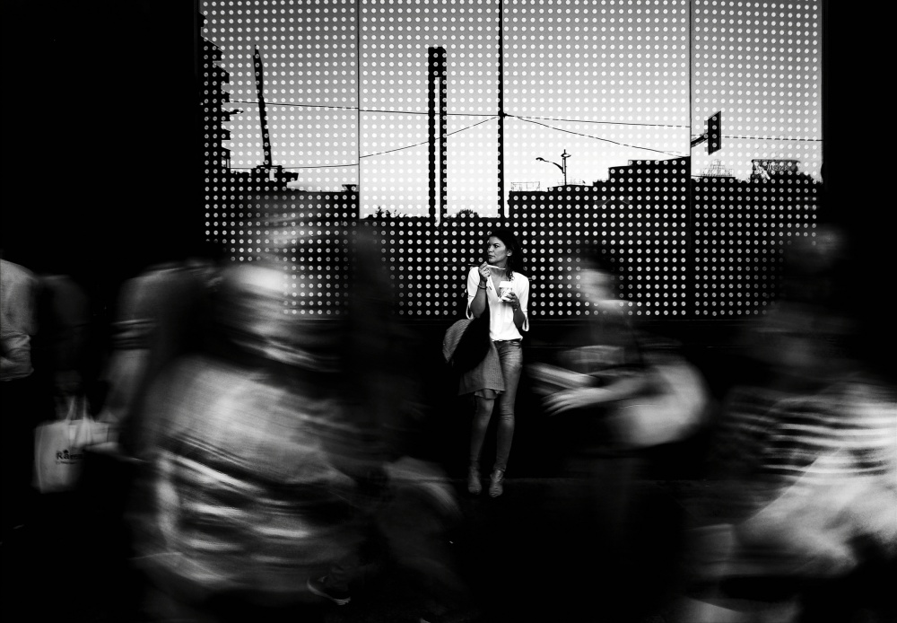A piece of fine art art photography titled Ghost Town by Mirela Momanu