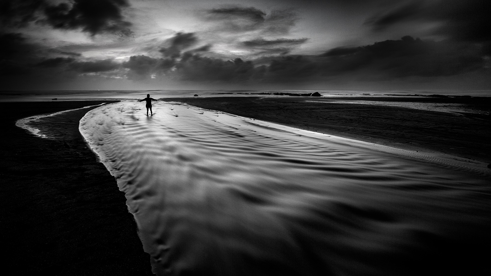 A piece of fine art art photography titled Alone In the Dark by Gunarto Song