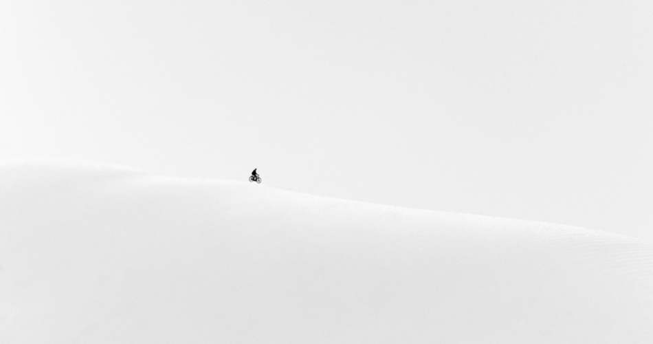 A piece of fine art art photography titled As Lonely As One Can Be! by Huib Limberg