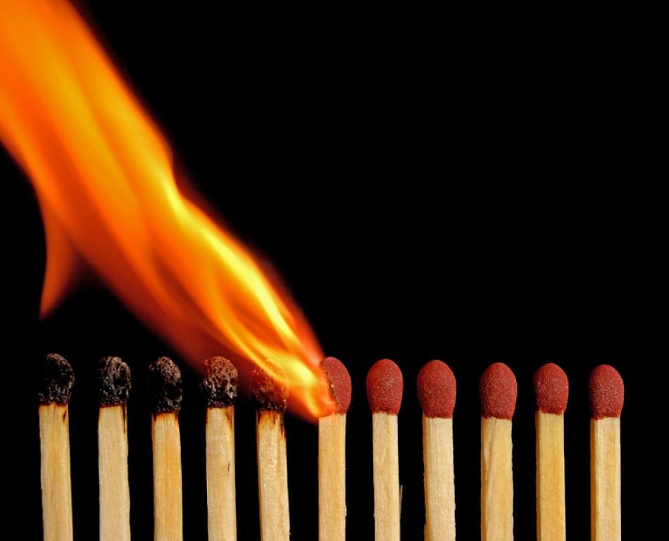 A piece of fine art art photography titled Burning by Earl A. Jones