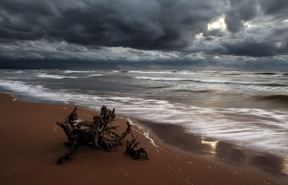 A piece of fine art art photography titled Autumn Sea by Karlis Keisters