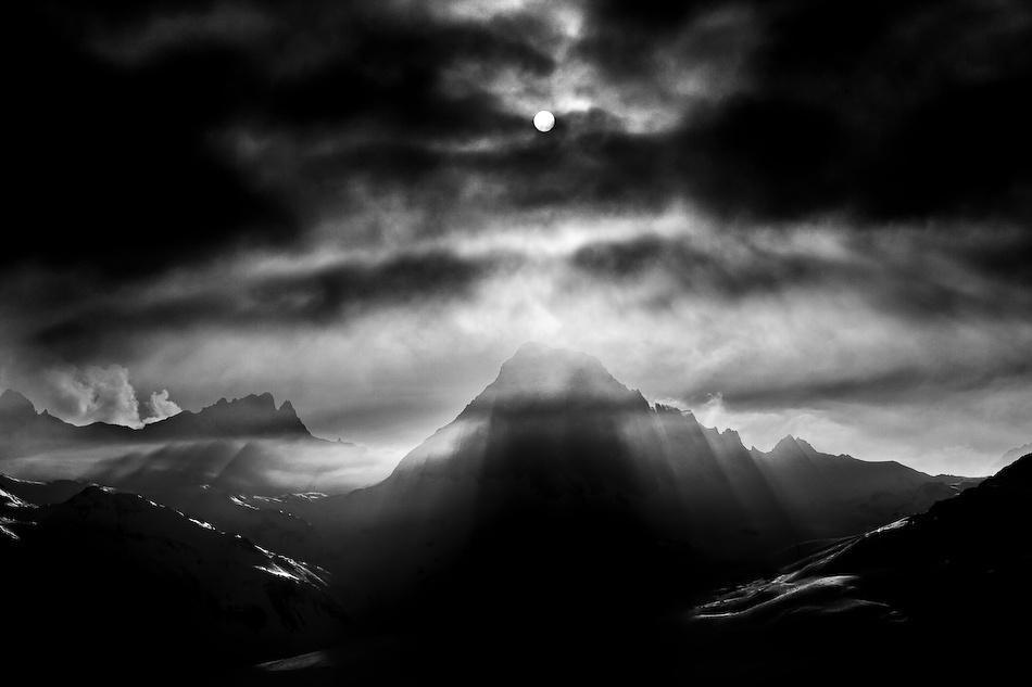 A piece of fine art art photography titled L`Aiguille Noire by Tristan Shu