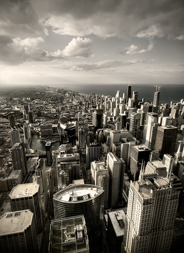 A piece of fine art art photography titled My Kind of Town by Nathan Peterson