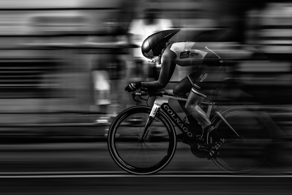 A piece of fine art art photography titled Determination and Speed by zdravc69