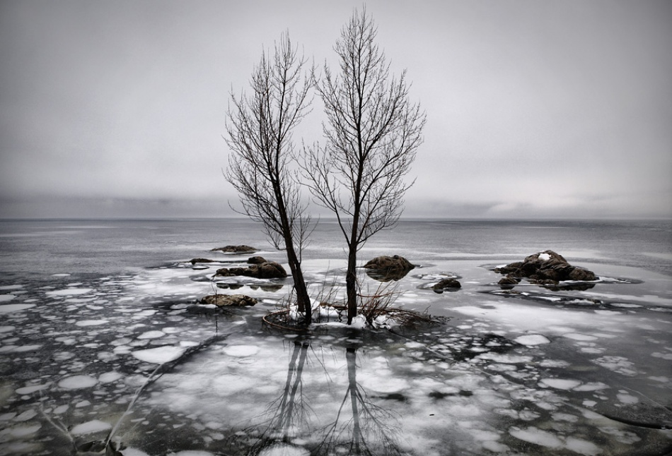 A piece of fine art art photography titled Rain and Ice by Vedran Vidak