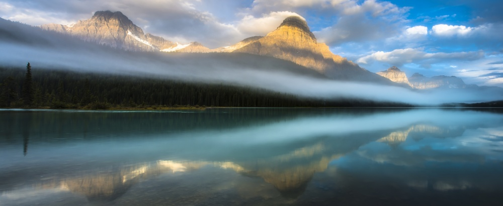 A piece of fine art art photography titled Mount Chephren by Bradley Bush