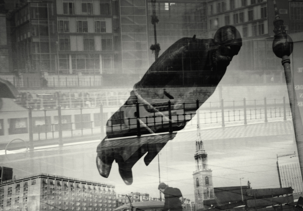 A piece of fine art art photography titled Flying Engels by Anja Buehrer