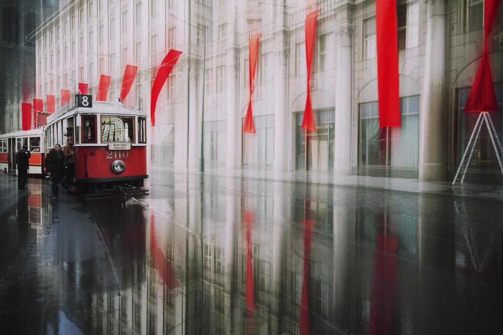 A piece of fine art art photography titled Line 8 by Roswitha Schleicher-Schwarz