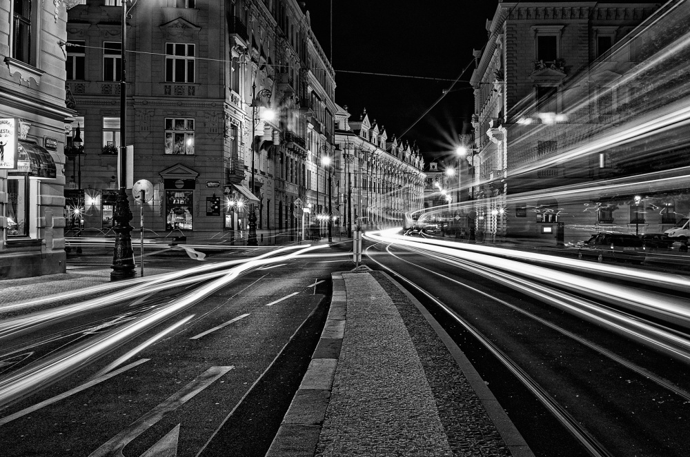 A piece of fine art art photography titled Bright Night by Blaz Poljansek