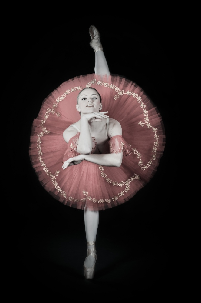 A piece of fine art art photography titled On Pointe by Darlene Hewson