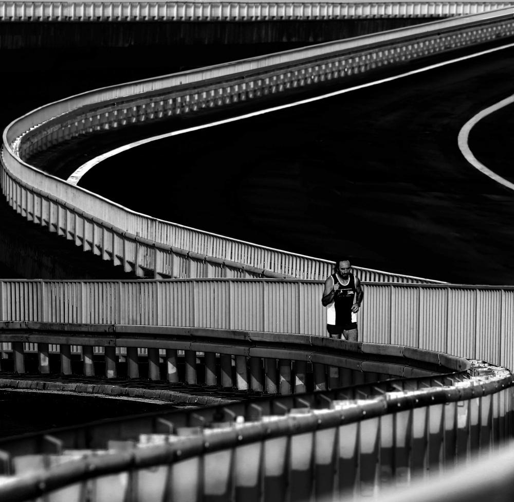 A piece of fine art art photography titled Marathoner by Anna Niemiec