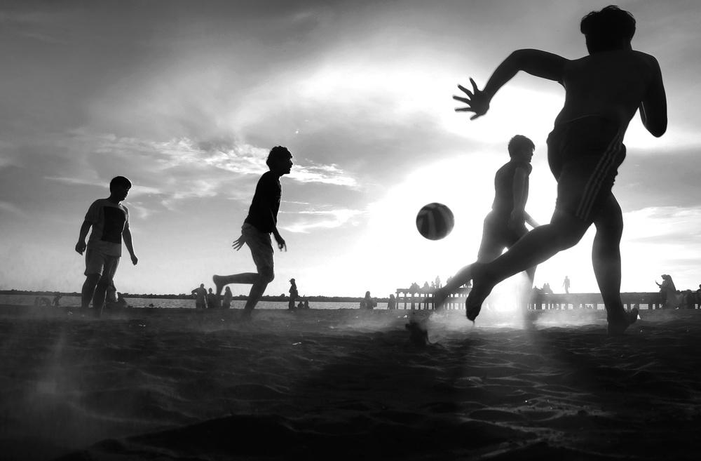 A piece of fine art art photography titled Coast FootBall by Muchtamir