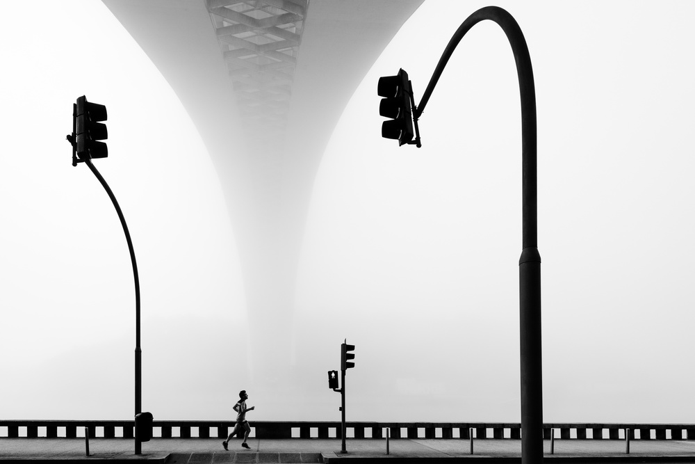 A piece of fine art art photography titled One Traffic Light Is Not Enough by Fernando Correia da Silva