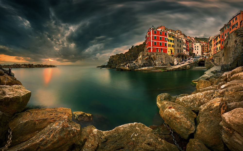 A piece of fine art art photography titled Riomaggiore by Krzysztof Browko