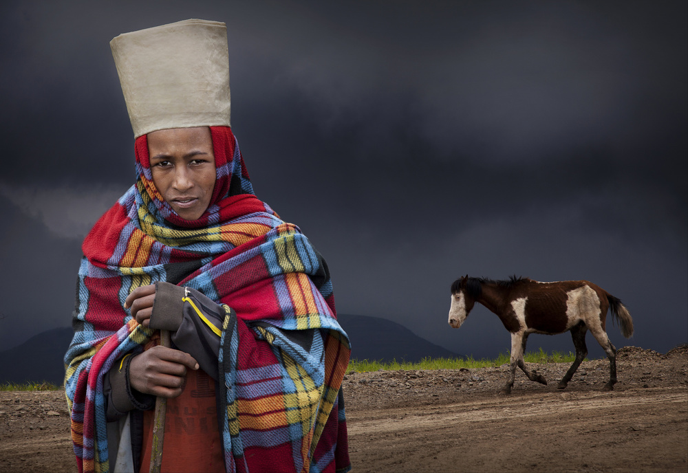 A piece of fine art art photography titled Young Shepherd by Marc Apers