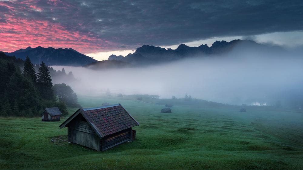 A piece of fine art art photography titled Morning Fog by Zbyszek Nowak