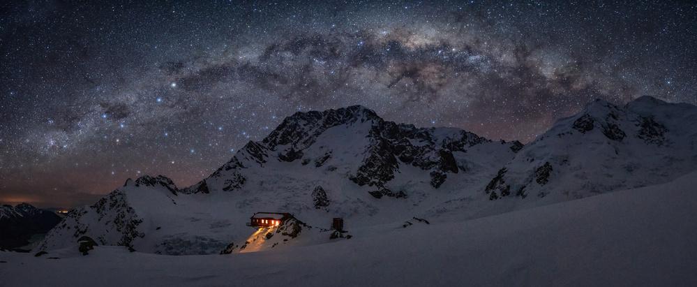 Plateau Hut Under Milky Way