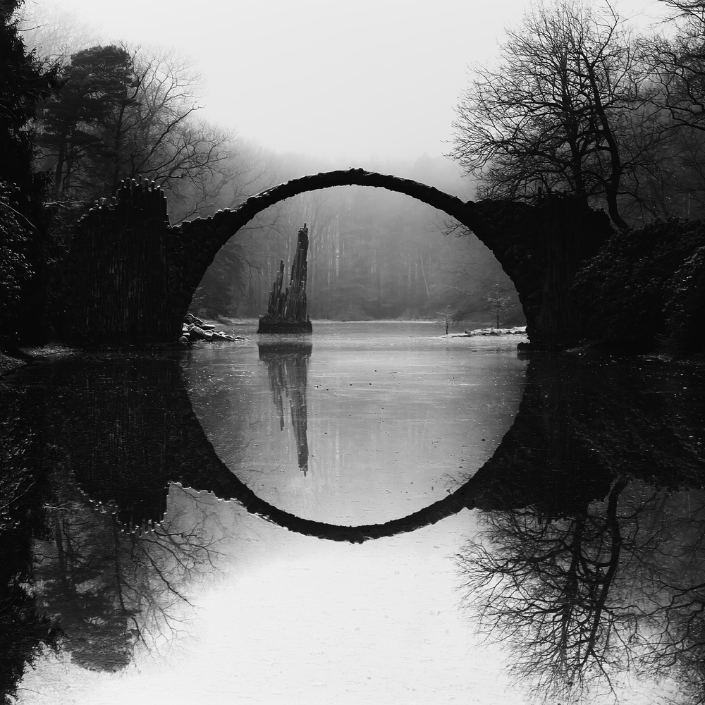 A piece of fine art art photography titled Devil's Bridge by mike kreiten