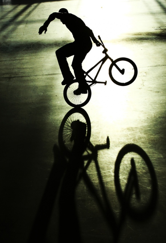 A piece of fine art art photography titled BMX Dancer by Jesse Rye Goodrice
