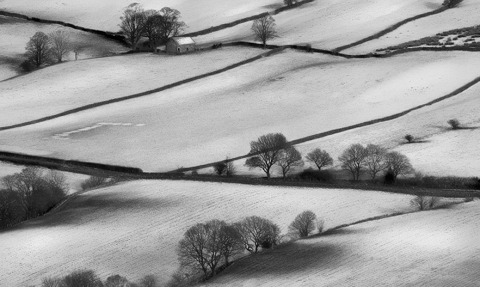 A piece of fine art art photography titled Winter Stable by Ian Goodman