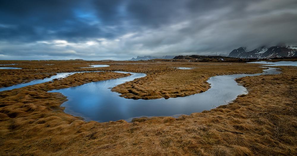 A piece of fine art art photography titled Little River Lofoten by Bjoern Alicke