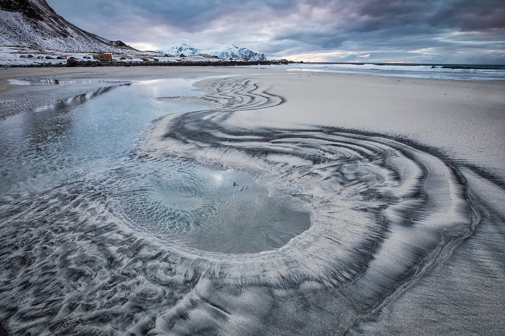 A piece of fine art art photography titled Sand Curve by Fabiola Forns