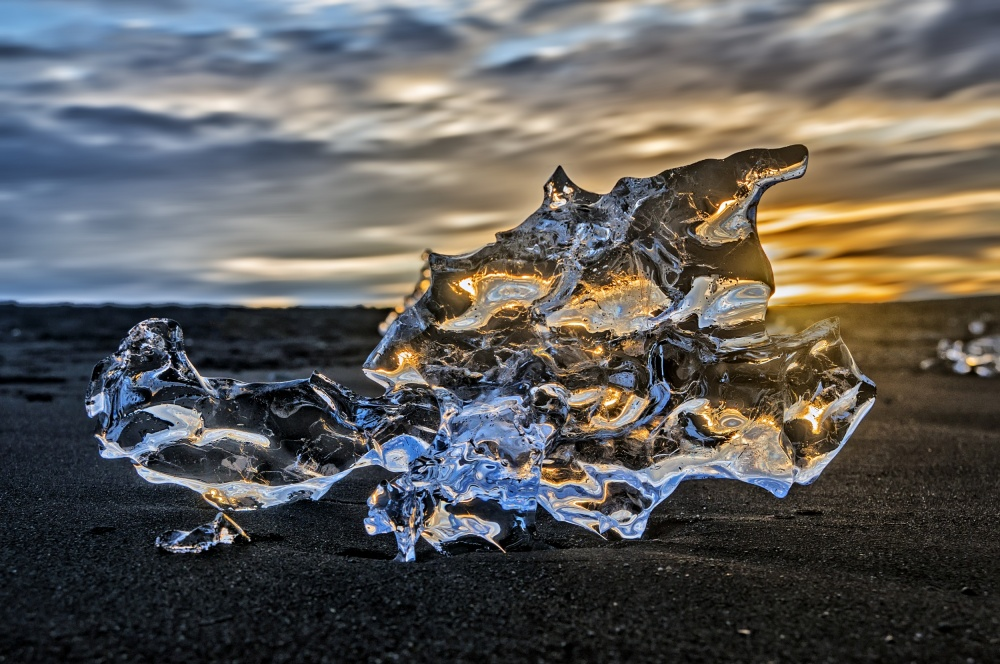 A piece of fine art art photography titled Fire and Ice by Daniel Schwabe