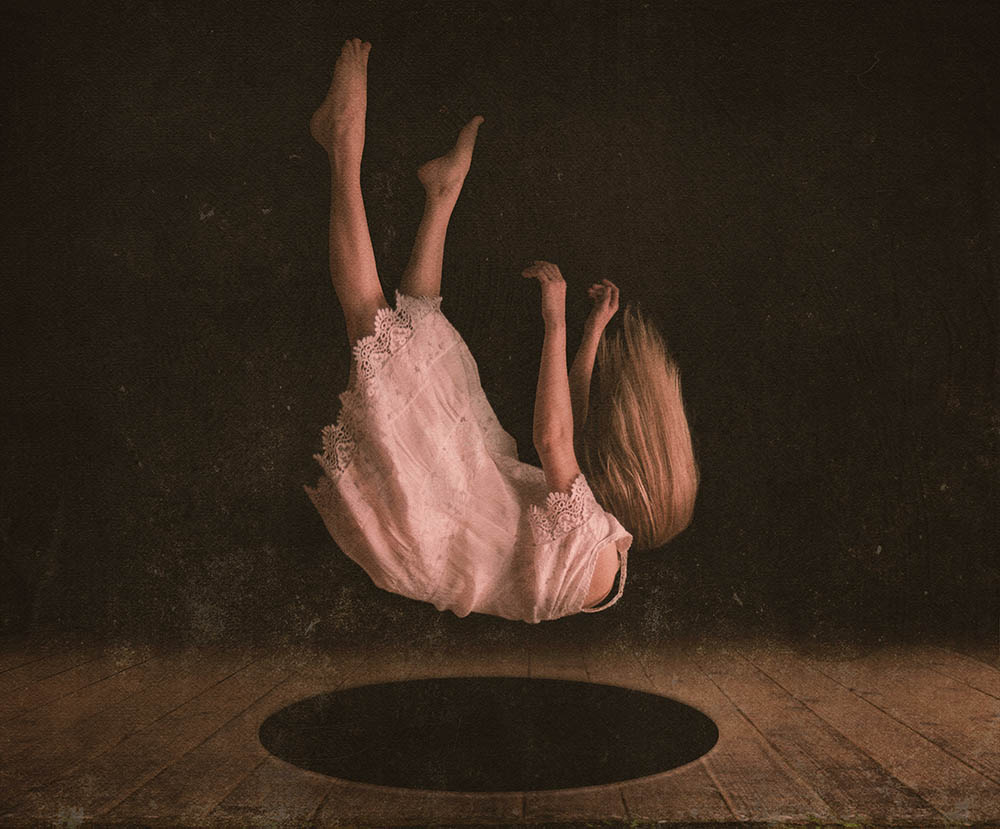 A piece of fine art art photography titled Fallin' by Sisuko CK