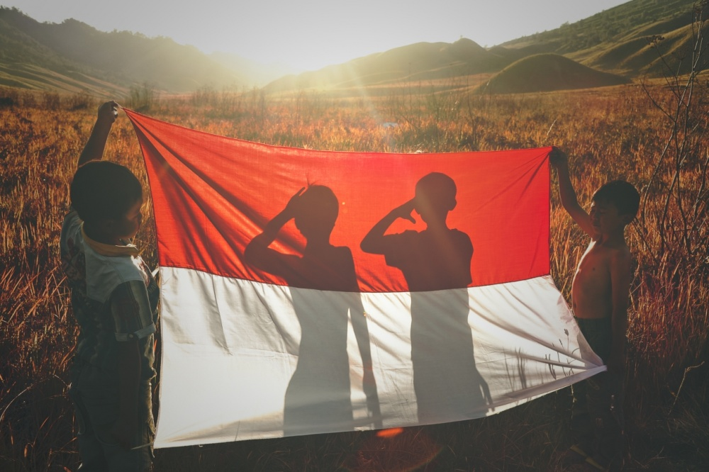 A piece of fine art art photography titled Happy Birthday Indonesia! by Yudhistira Yogasara