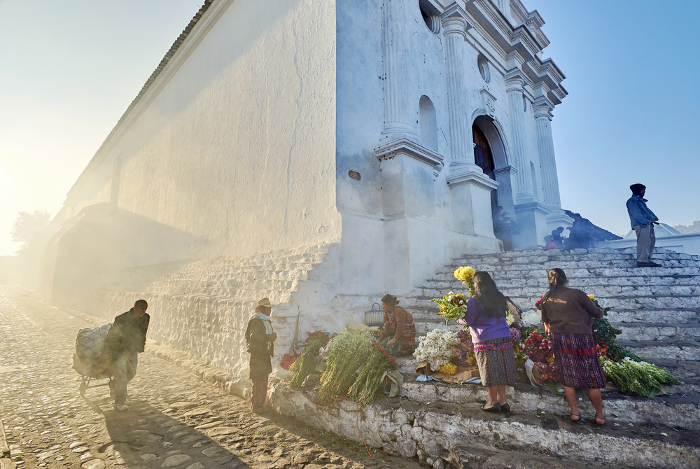 A piece of fine art art photography titled Morning In City Chichicastenango, Guatemala by Martin Froyda