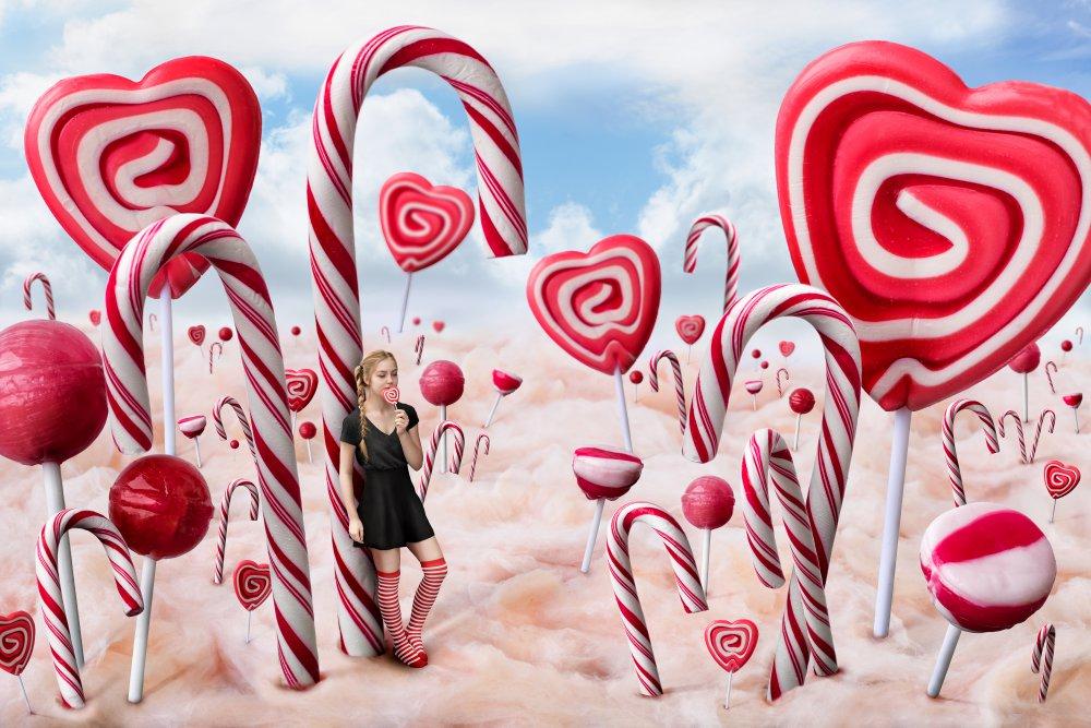 A piece of fine art art photography titled Candyland by Bettina Dittmann