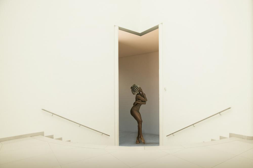 A piece of fine art art photography titled Downstairs by Christine von Diepenbroek