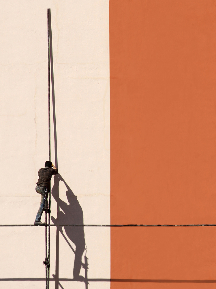 A piece of fine art art photography titled Workers by mostafa nodeh