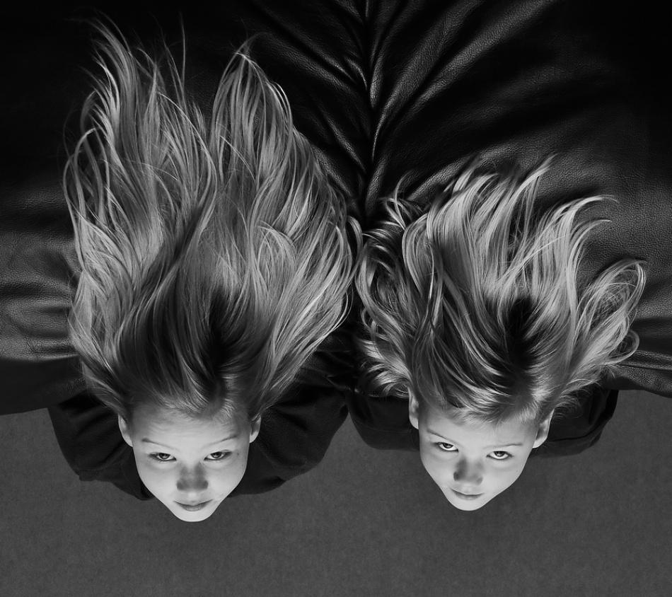 A piece of fine art art photography titled Sisters by Joris