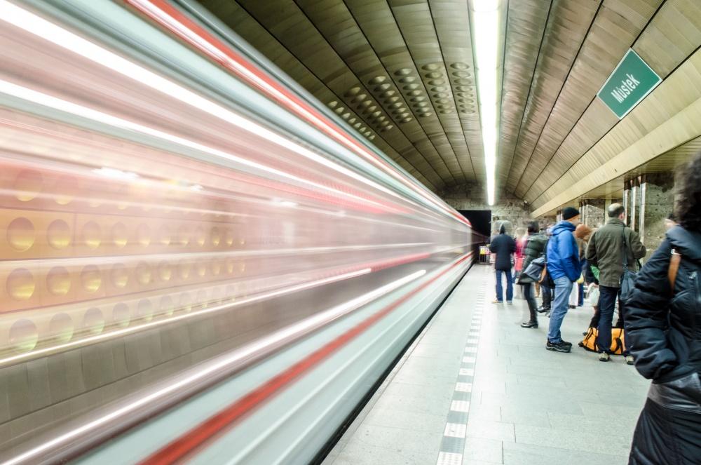 A piece of fine art art photography titled Prague Metro by Milan Loncar